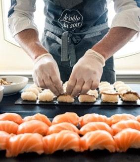 New - 19 - buffet déjeuner & aimation sushis lors de l'ékiden du vélo du soir traiteur événementiel