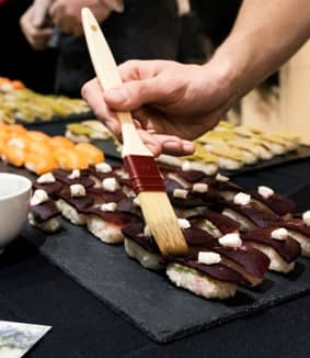 New - 9 - cocktail dînatoire du vélo du soir avec animation sushis - Traiteur buffet déjeuner